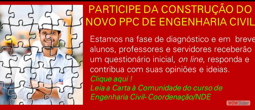 Participe da Construção do Novo PCC da Engenharia Civil